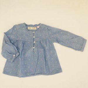 Blouse lichtblauw Zara 12-18m