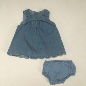 Jeanskleedje + bloomer Zara mini 0-3m / 62