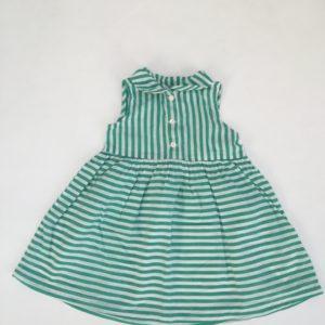 Kleedje sleeveless green stripes H&M 9-12m / 80
