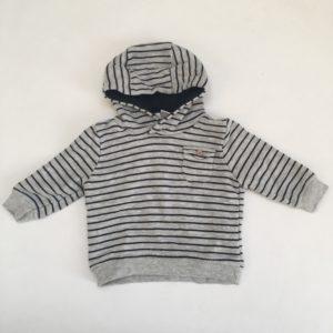 Hoodie stripes Zara 3-6m