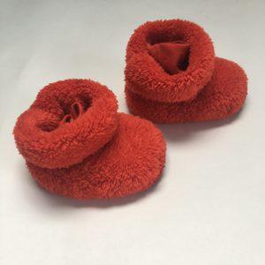 Pantoffels rood Woody 12-24m