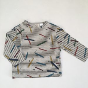 T-shirt longsleeve pencils Zara 18-24m