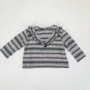 Longsleeve frill stripes Zara 6-9m / 74