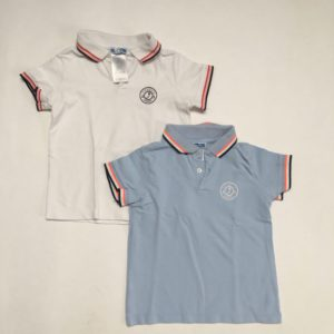 2 x polo  blauw / wit Jacadi 4jr / 104