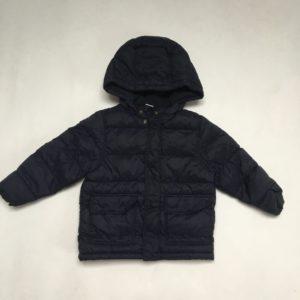 Gewatteerde winterjas gevoerd met fleece donkerblauw Petit Bateau 3jr / 95