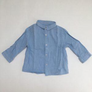 Hemdje blauw Zara 6-9m / 74