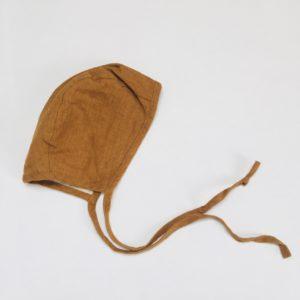 Linnen bonnet / mutsje  Briar  handmade 6-12m