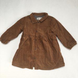 Fluwelen kleedje bruin Zara baby 12-18m