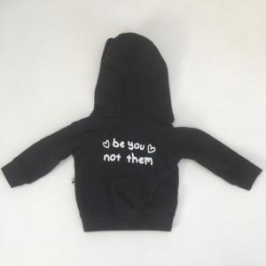 Hoodie zwart Be you not them Cos I said so 56/62
