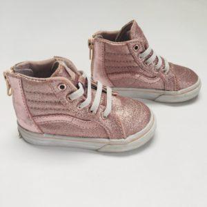 Hoge sneakers glitter pink Vans maat 21,5