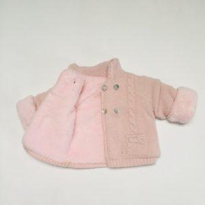 Jasje tricot teddy binnenkant roze First 1m