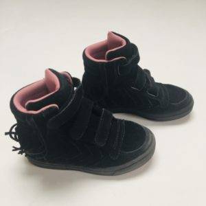 Sneaker high top black fringes Hummel maat 28