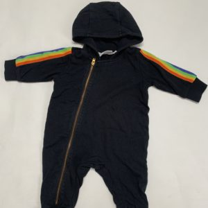 Hooded jumpsuit rainbow Mini Rodini 56/62