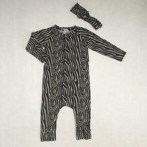 Onesie  + haarband zebra print Little Buds 86