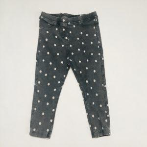 Broek dots  zwarte denim Zara 2-3 jr / 98