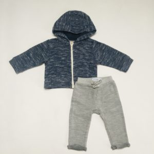 Setje hoodie speckled en sweatpants grijs Filou & Friends 6m