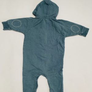 Hooded jumpsuit blauwgrijs Gray Label 0-6m