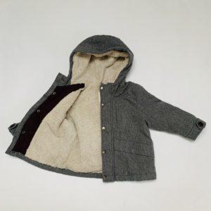 Jas teddy grijs (jersey) Zara 12-18m / 86