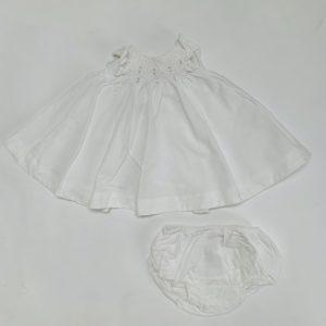 Set kleedje + bloomer wit 3m Jacadi 3m / 60cm