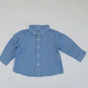 Hemdje lichtblauw Zara 3-6 m / 68