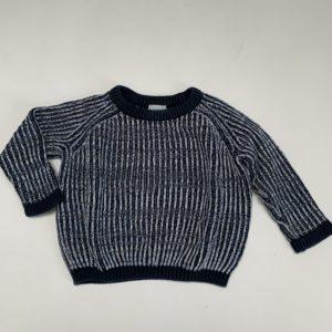 Gebreide sweater donkerblauw COS 86/92