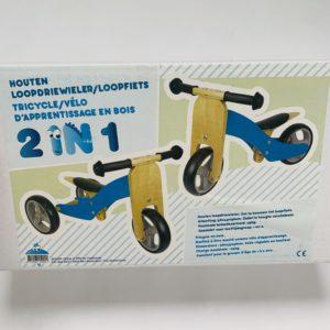 Houten loopdriewieler / loopfiets 2 in 1