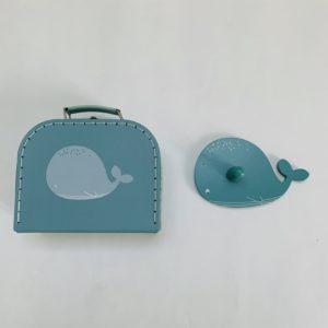 Koffertje + kapstok walvis Dille & Kamille