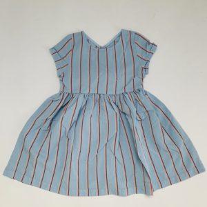 Blauw kleedje stripes Filou & Friends 4jr
