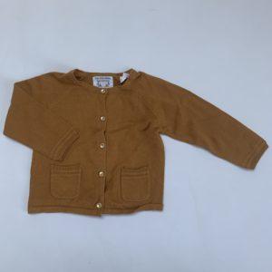 Gilet knit mustard Zara 9-12m / 80