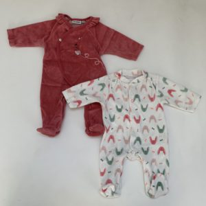 2 x pyjama fleece Noukie's 1m / 56