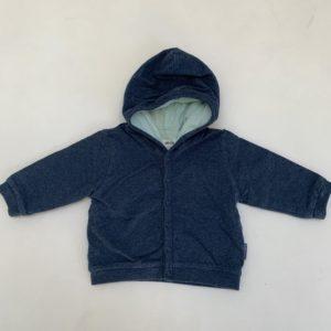 Hoodie donkerblauw Baby Filou 3m