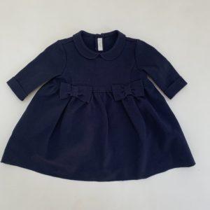 Kleedje donkerblauw met strikjes Il Gufo 3m
