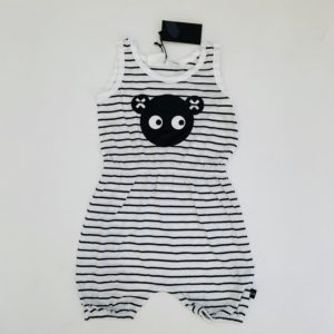 Playsuit black stripe Huxbaby 5jr