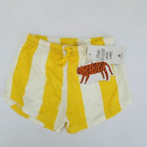 Retro short yellow stripes Noé & Zoë 10jr