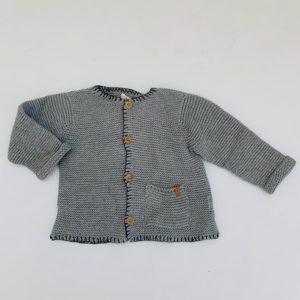 Gilet knitwear lichtgrijs Nixnut 9-12m