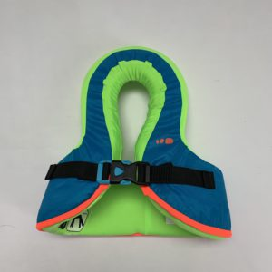 Zwemvest blauw/groen Nabaji 15-25 kg