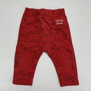 Legging rood family bear Zara 80