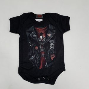 Romper leather jacket 0-3m