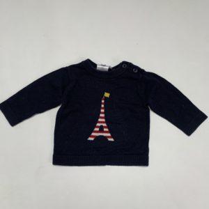 Sweater eifeltoren Jacadi 6m / 67