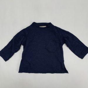 Longsleeve donkerblauw Mango 3-6m / 68