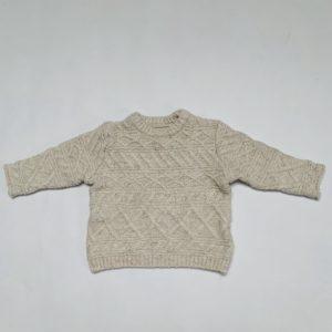 Gebreide sweater ecru Zara 6-9m / 74