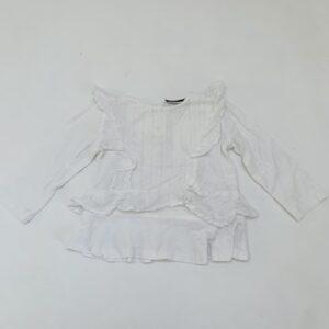 Wit blouseje glitter detail La Redoute 9m / 71