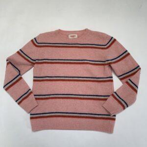 Pull pink stripes Maan 10jr