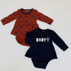 2x romperdresses baby/house La Redoute 3m / 62