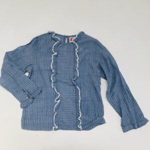 Blouse blue stripes AO76 10jr