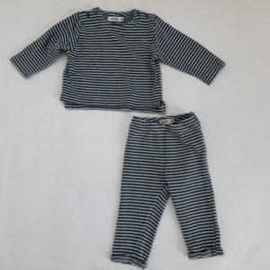 2-delig setje tricot stripes P'tit Filou 6m
