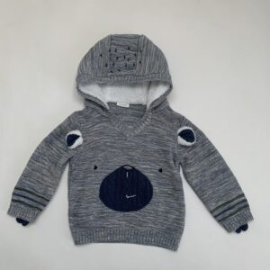 Hoodie tricot bear Next 12-18m / 86