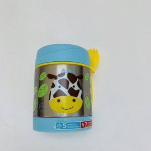 Beker + lepel/vork giraf Skip Hop