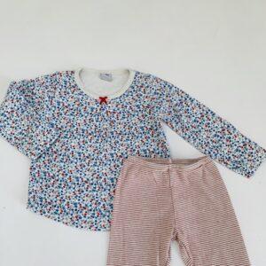 2-delige pyjama longsleeve flowers Petit Bateau 3jr / 95