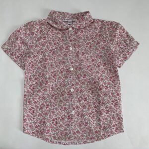 Blouse shortsleeve flowers pink Les enfants de Gisele 3jr 94